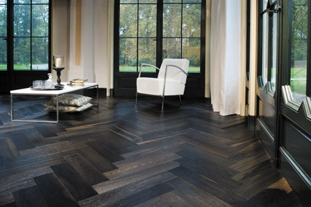 floor360 herringbone floor dark wood. Black Bedroom Furniture Sets. Home Design Ideas