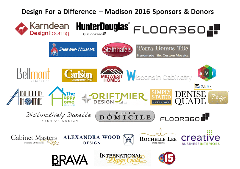 Design for a Difference Donor Logos 2016