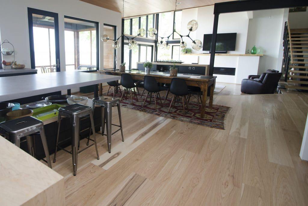 hardwood flooring lake home