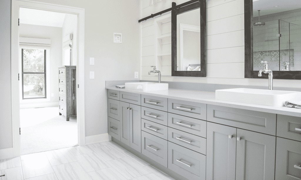 master bath grey white