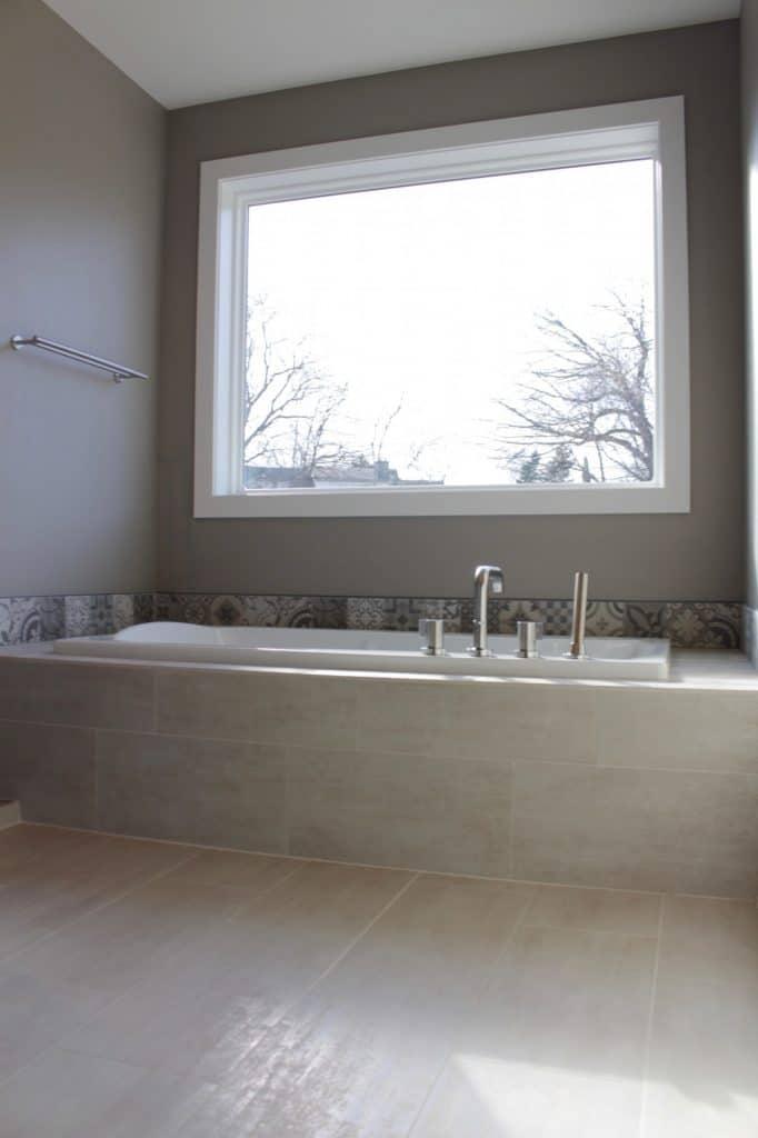tile surround bathtub painted tile border