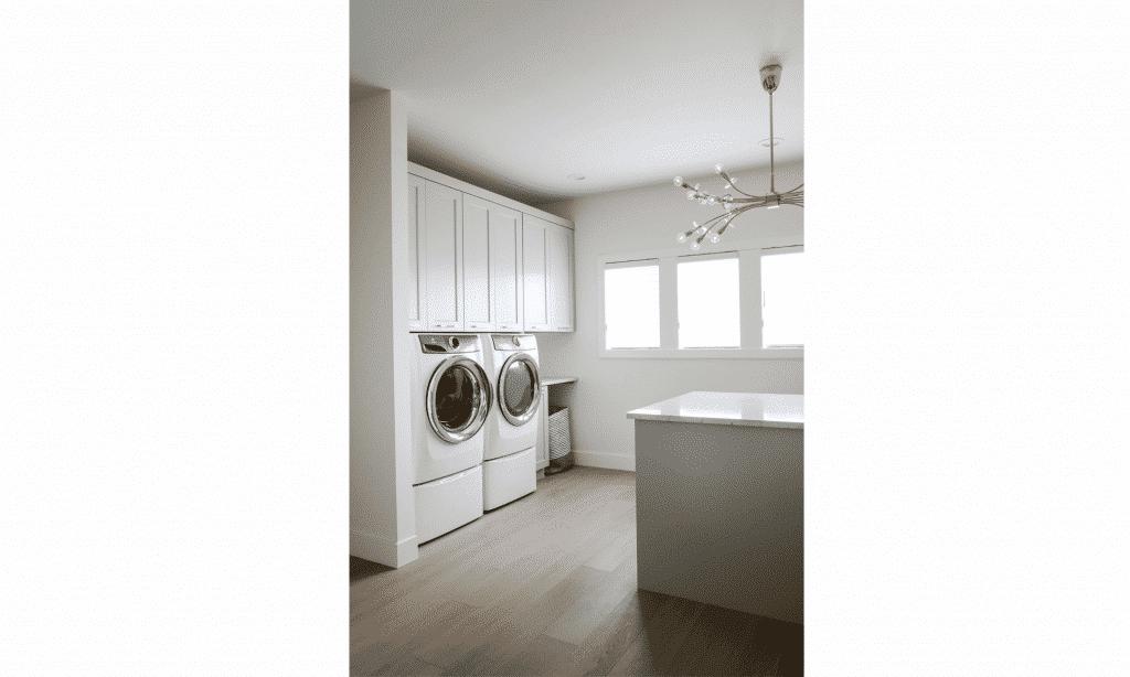 hardwood flooring light oak laundry room