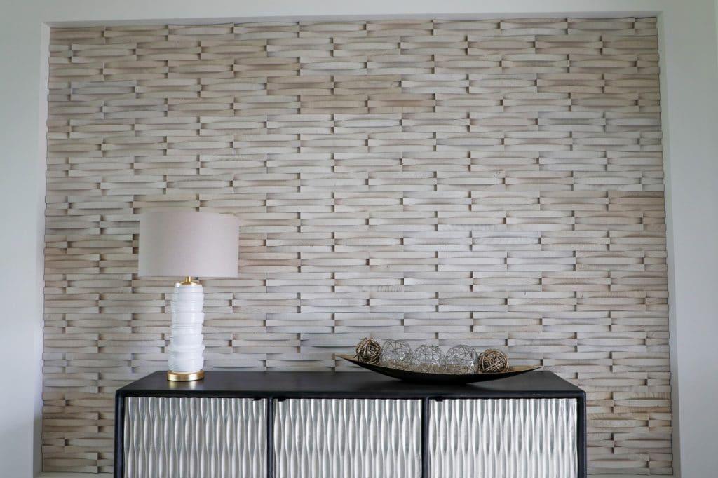 custom blonde wood texture wall