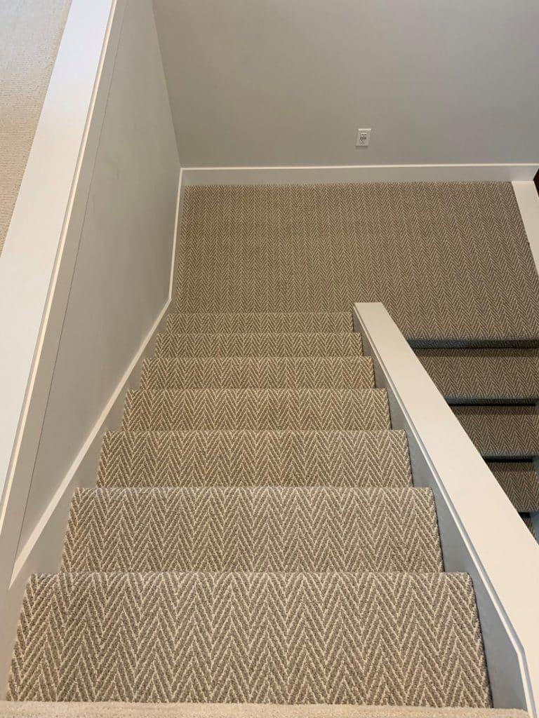 chevron pattern stair carpet runner