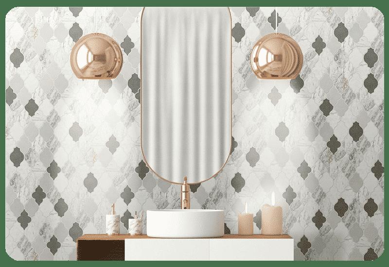 natural stone wall tile bathroom