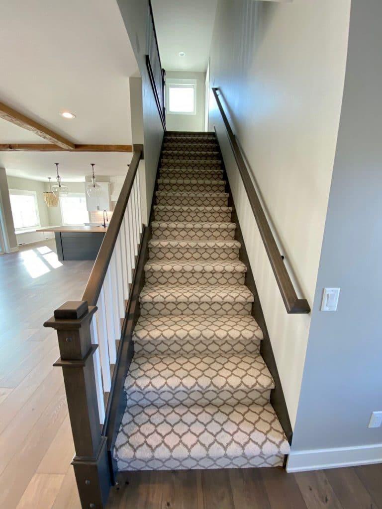 pattern carpeting stair runner
