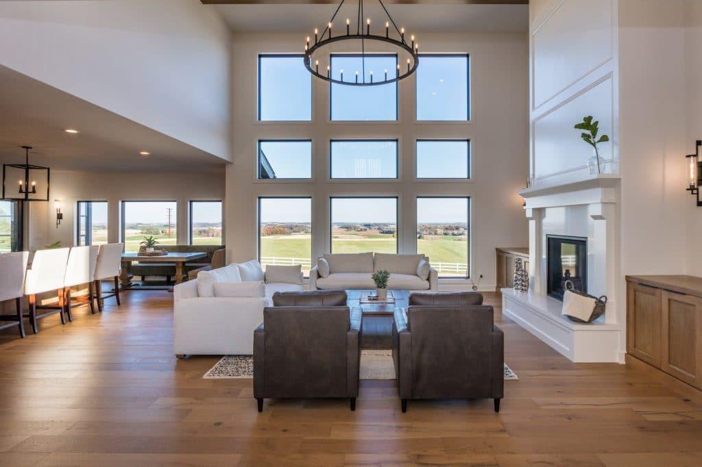 hardwood floor living room kitchen great room floor