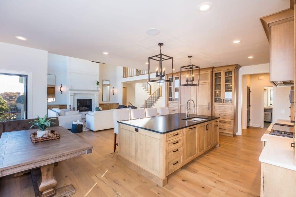 hardwood floor kitchen great room floor
