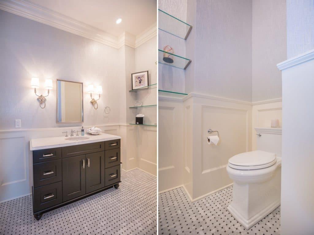 marble bathroom floor