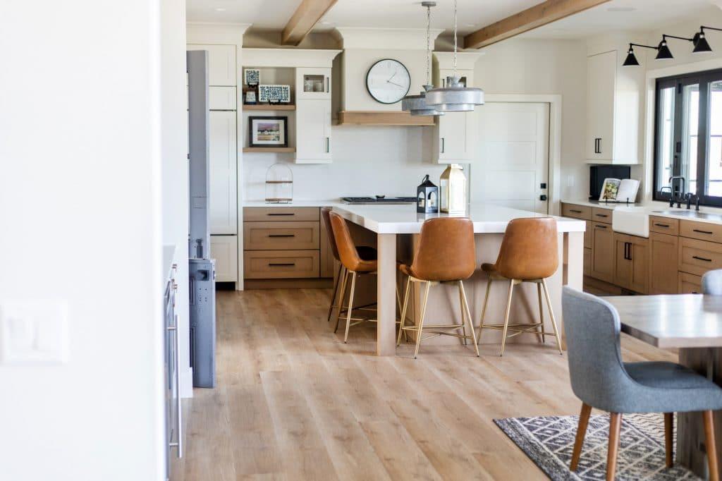 luxury vinyl plank kitchen flooring