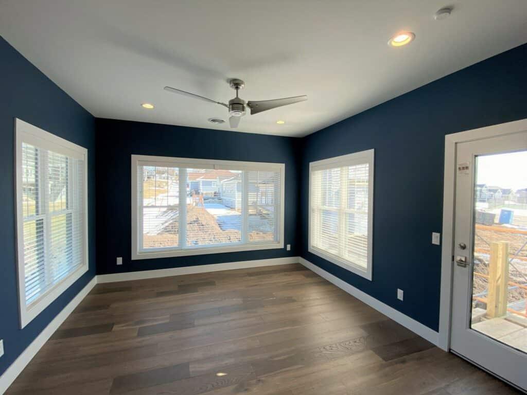hardwood floor three season porch