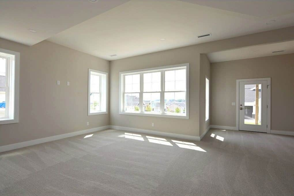 carpeting lower level