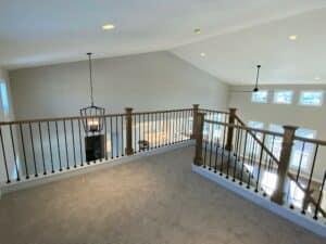 carpeting upper level stair landing