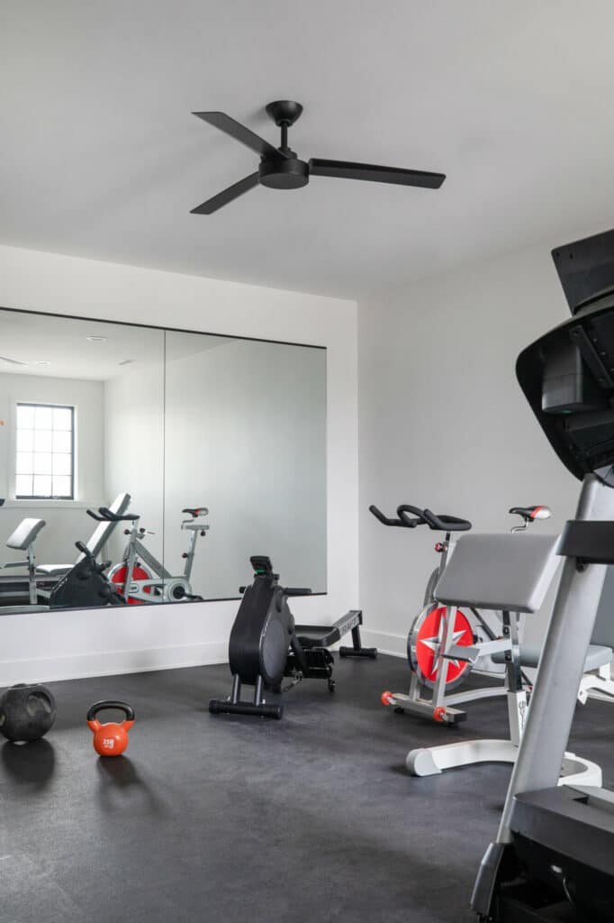 rubber floor home workout room