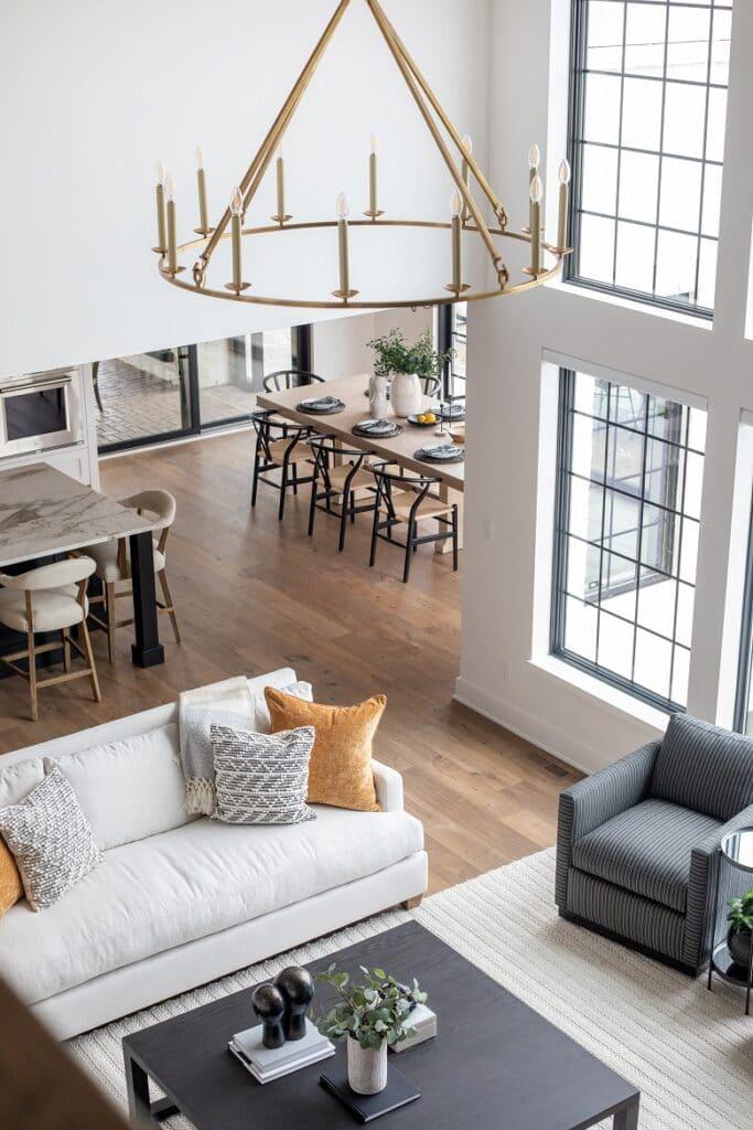 hardwood flooring great room