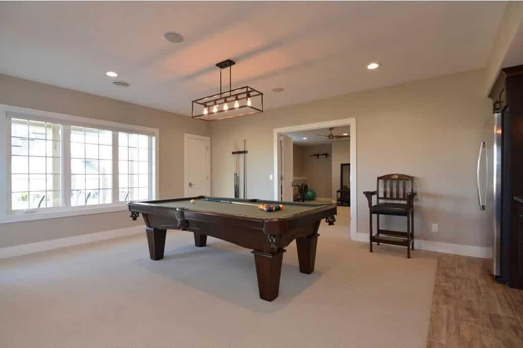 carpeting luxury vinyl plank pool room