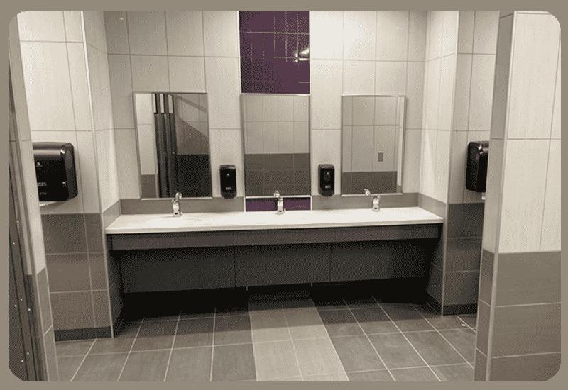 bathroom tile school
