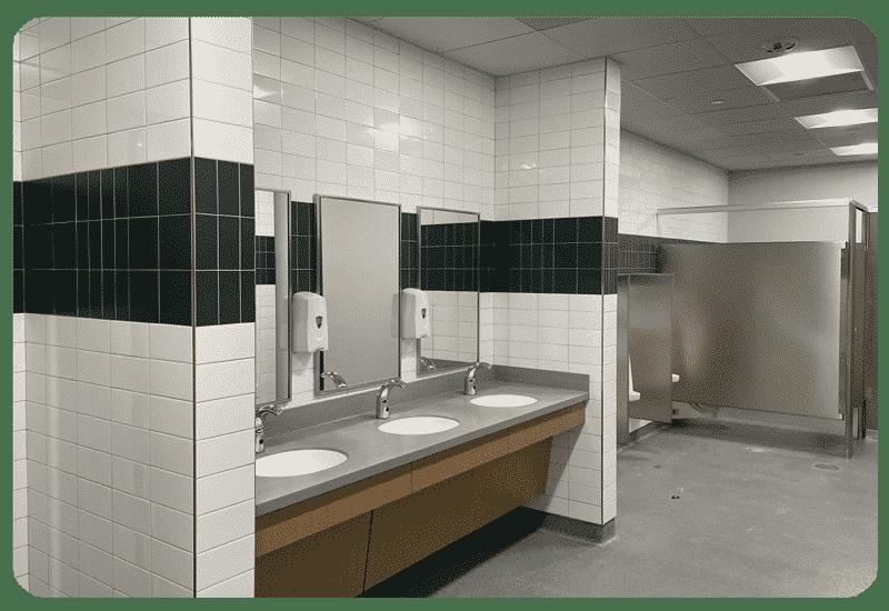 school bathroom wall tile